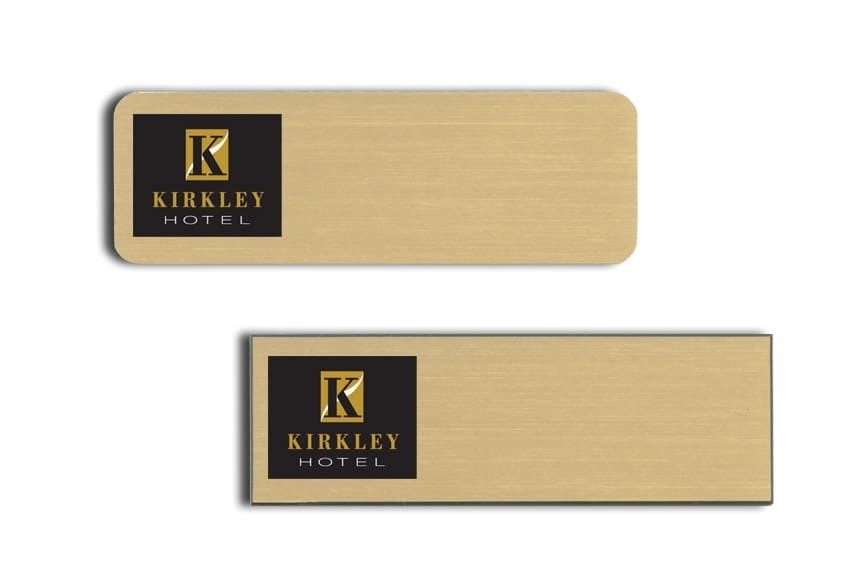 Kirkley Hotel Name Tags Badges