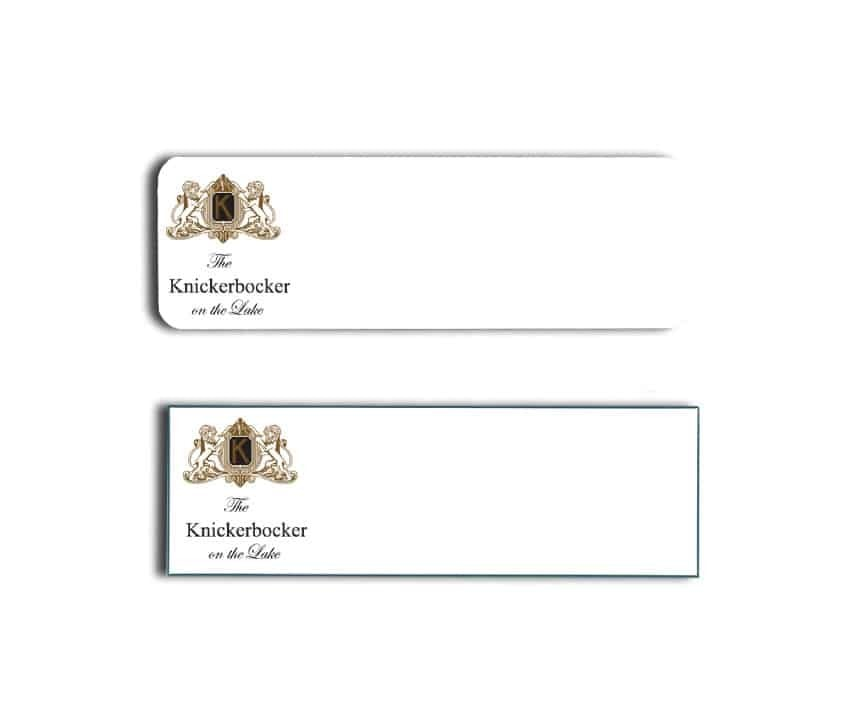 Knickerbocker on the Lake Name Tags Badges