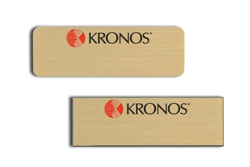 Kronos Name Tags Badges
