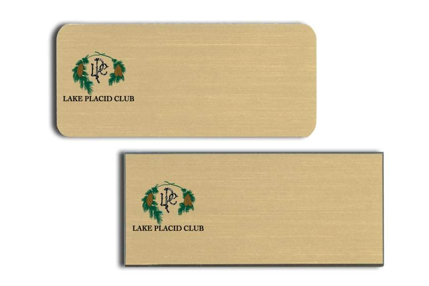 Lake Placid Club Name Tags Badges