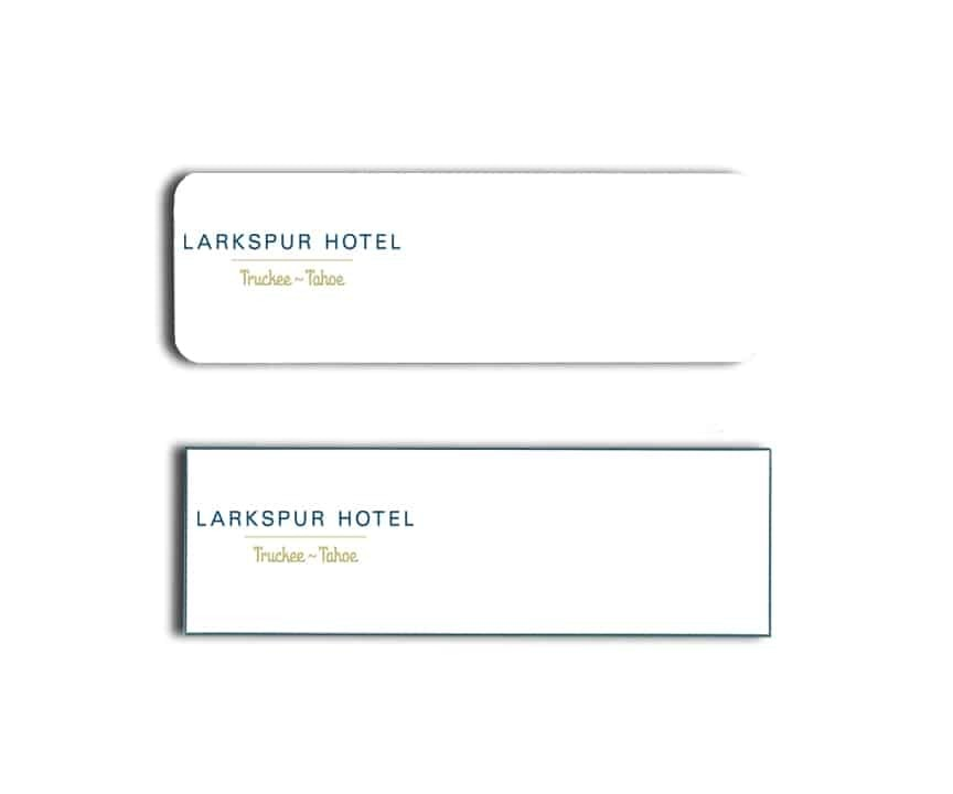 Larkspur Hotel Name Tags Badges