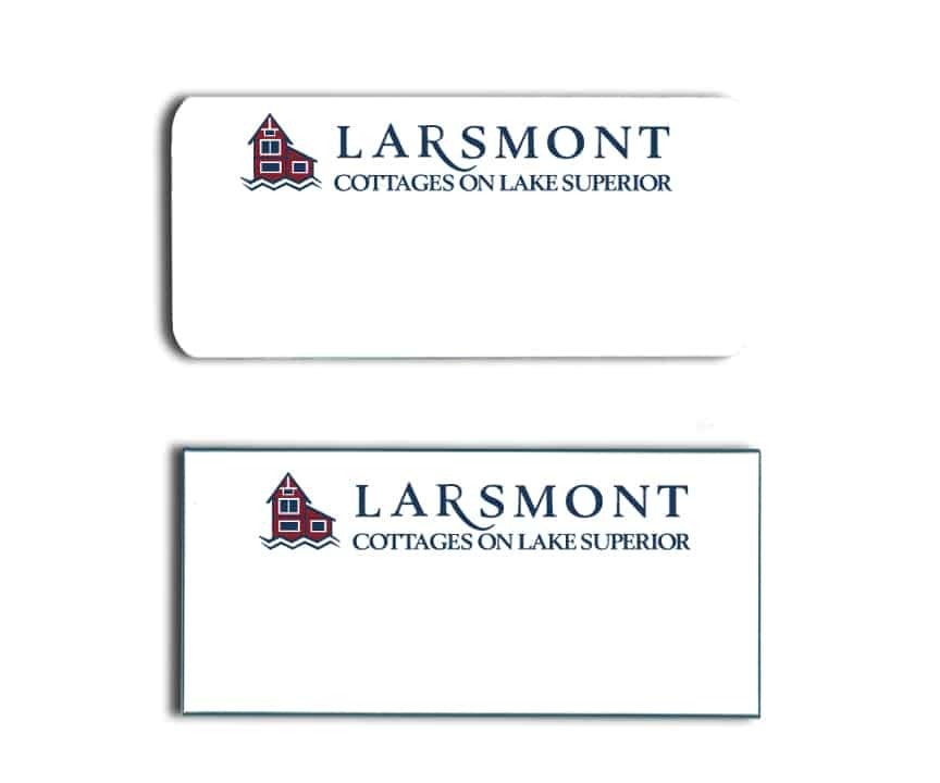 Larsmont Cottages Name Tags Badges