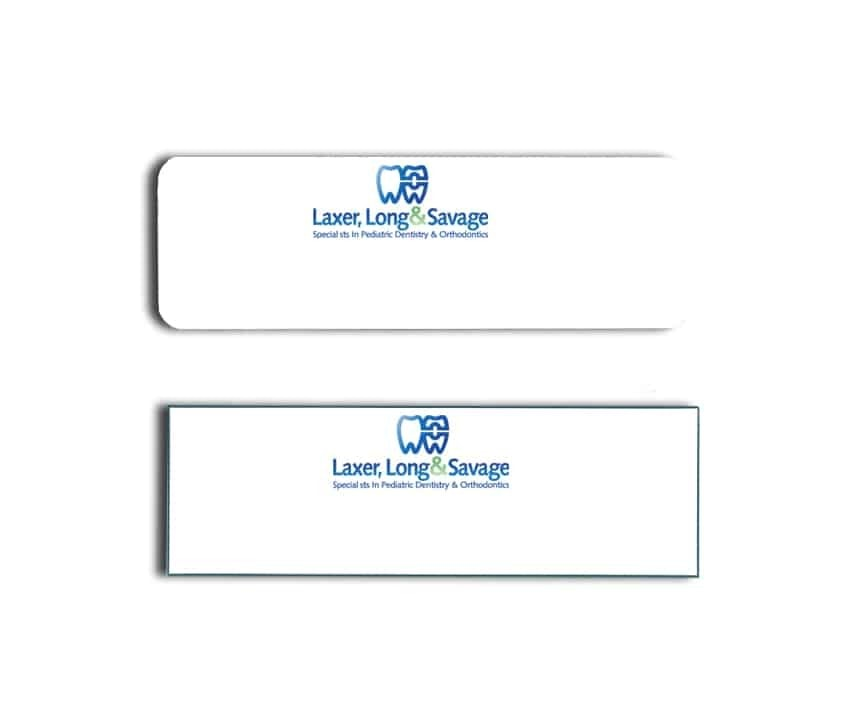 Laxer Long & Savage Name Tags Badges