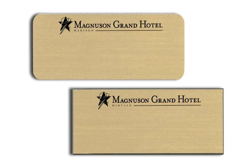 Magnuson Grand Hotel Name Tags Badges