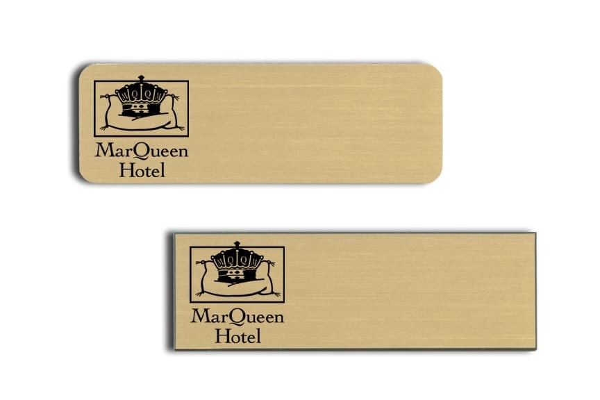 MarQueen Hotel Name Tags Badges