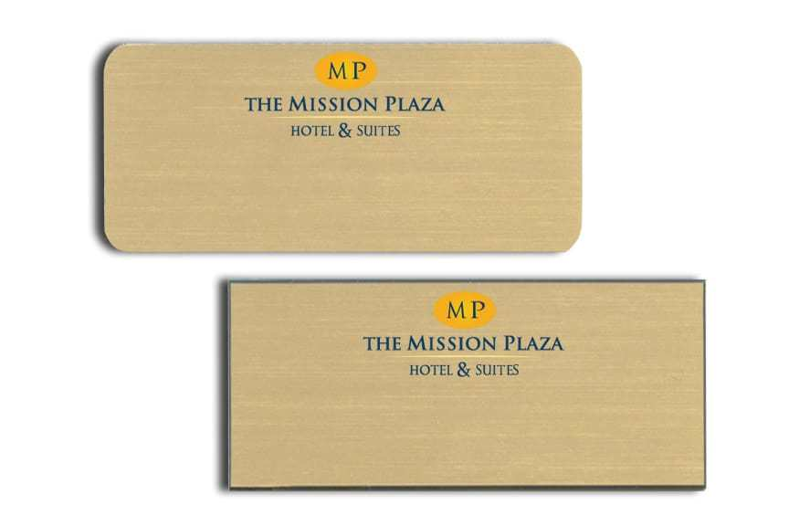 Mission Plaza Hotel & Suites Name Tags Badges