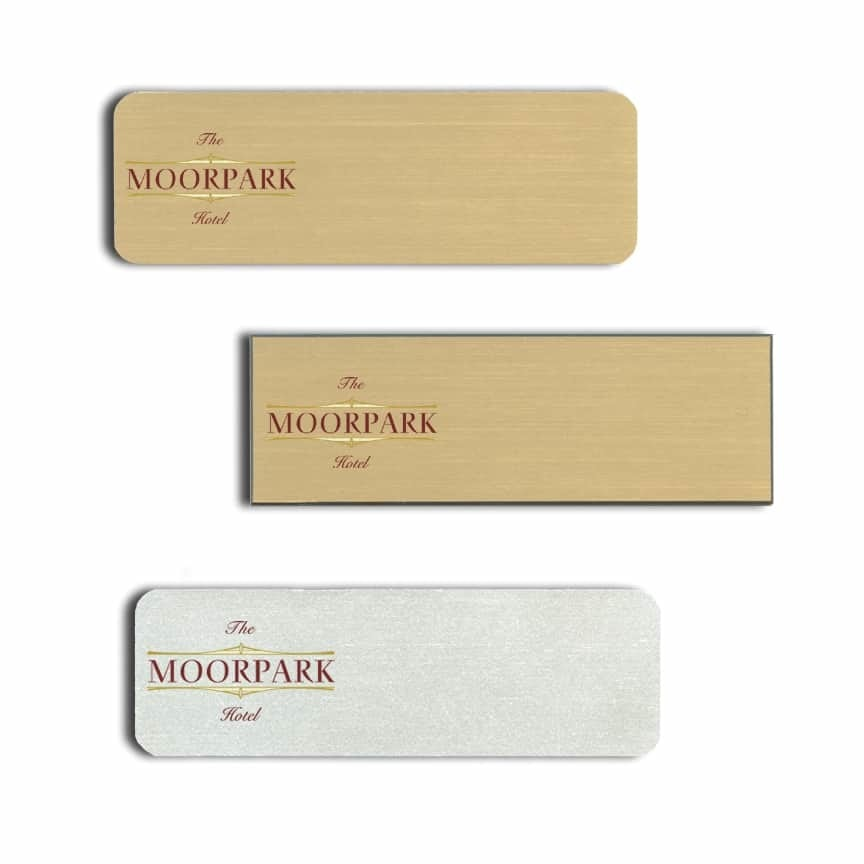Moorpark Hotel Name Tags Badges