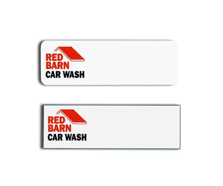 Red Barn Car Wash Name Tags Badges