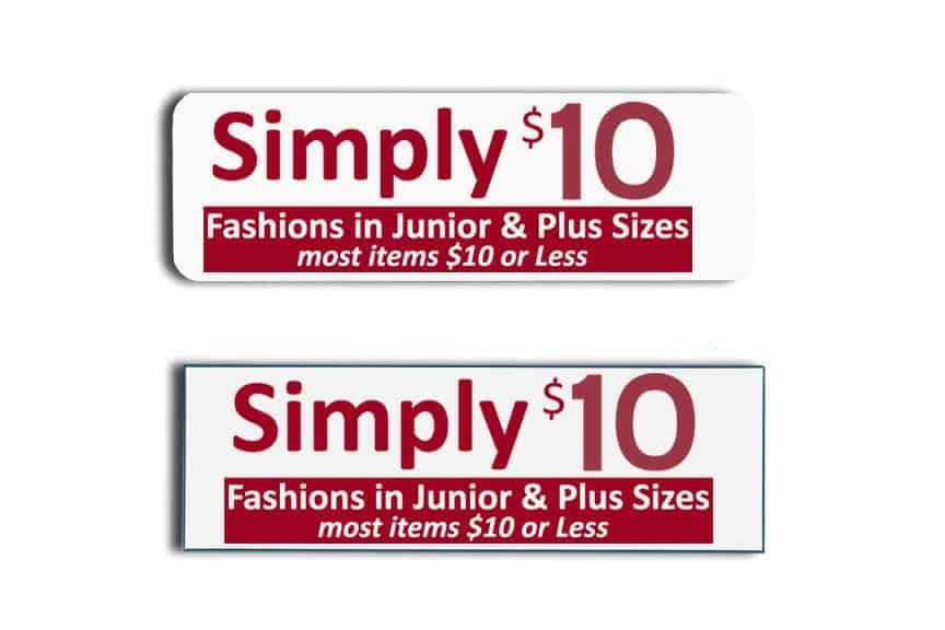 Simply $10 Name Tags Badges