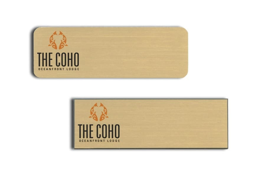 The Coho Oceanfront Lodge Name Tags Badges
