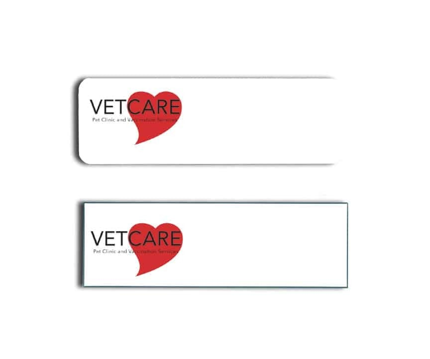 Vet Care Pet Clinic Name Tags Badges