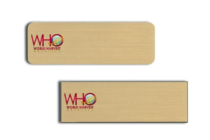 World Harvest Outreach Name Tags Badges