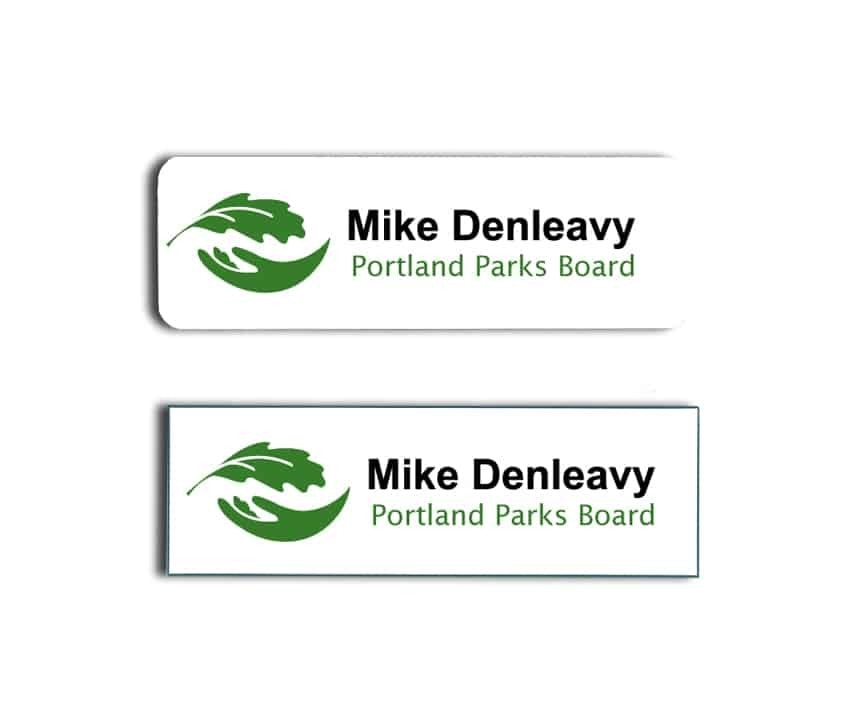 Portland Parks and Recreation Name Badges