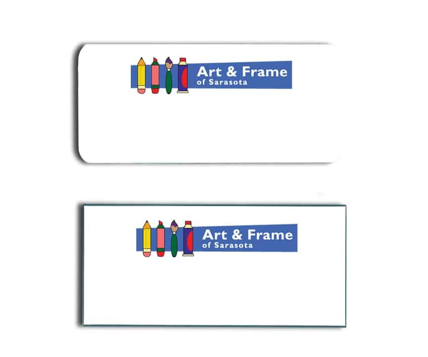 Art & Frame name badges tags