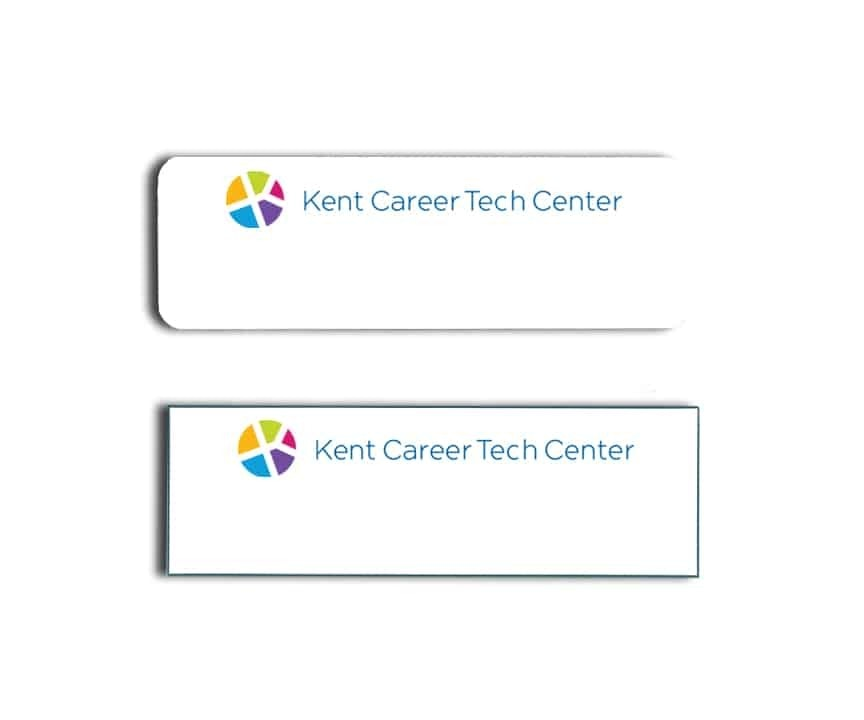 Kent Career Tech Center name badges tags
