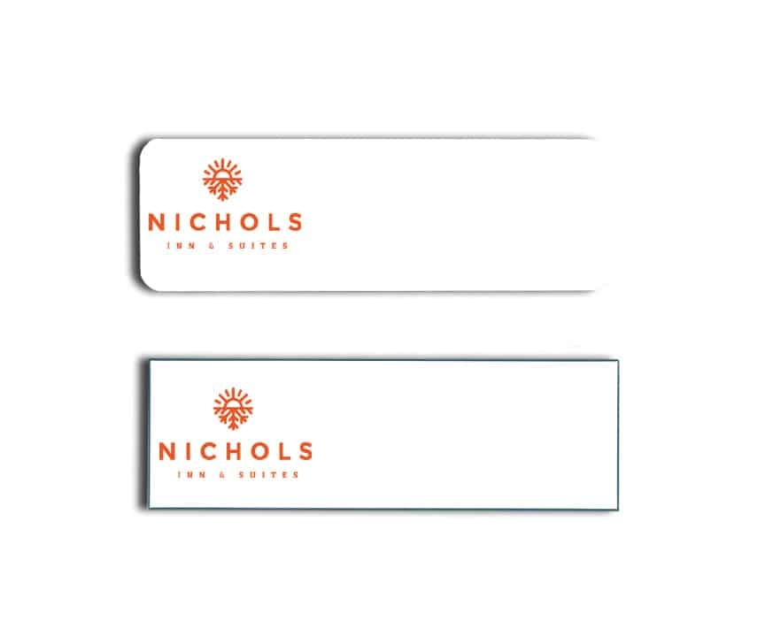 Nichols Inn & Suites name tags badges