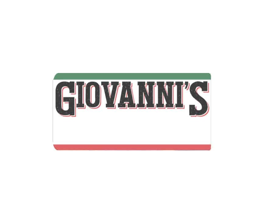 Giovanni's Pizza name badges