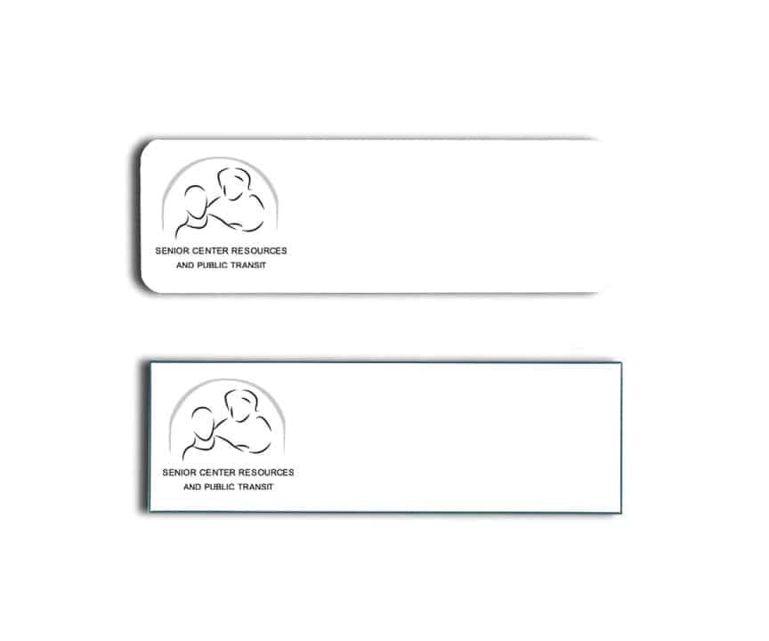 Senior Center Resources name badges