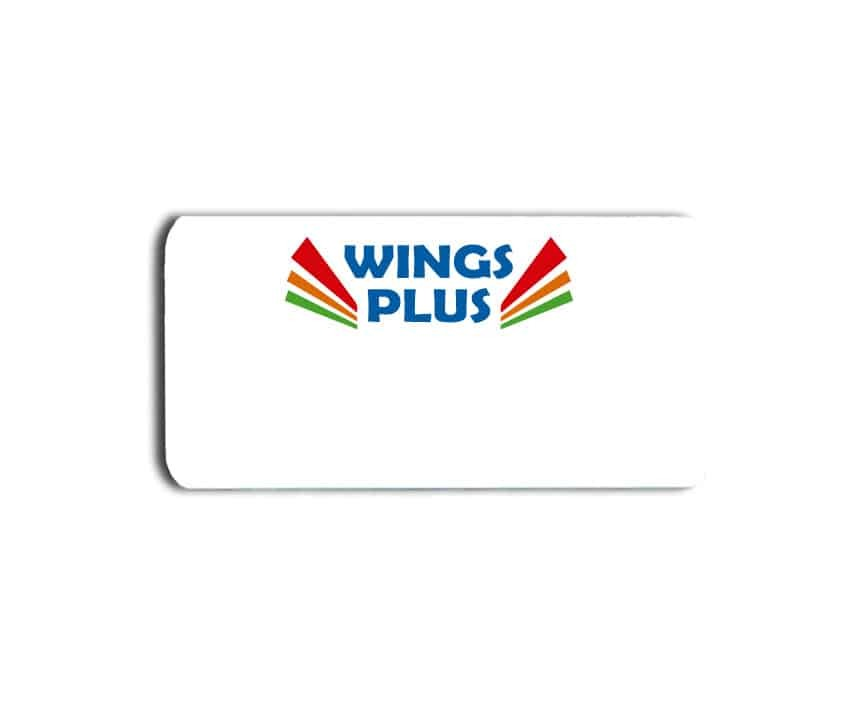 Wings Plus name badges