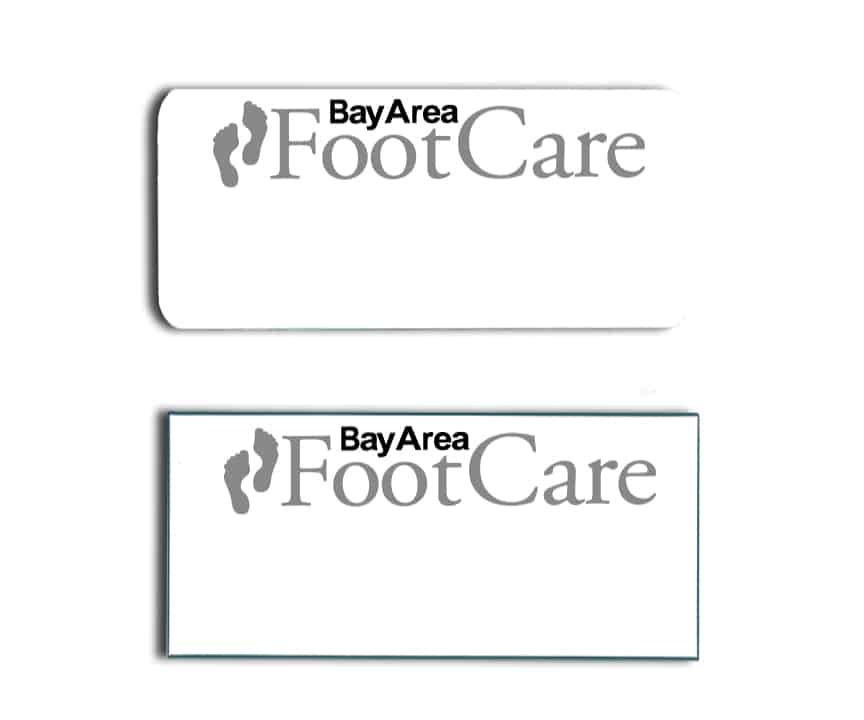 Bay Area Foot Care name badges