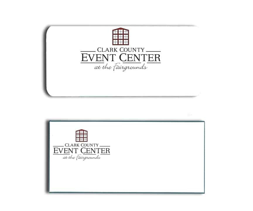 Clark County Event Center name badges