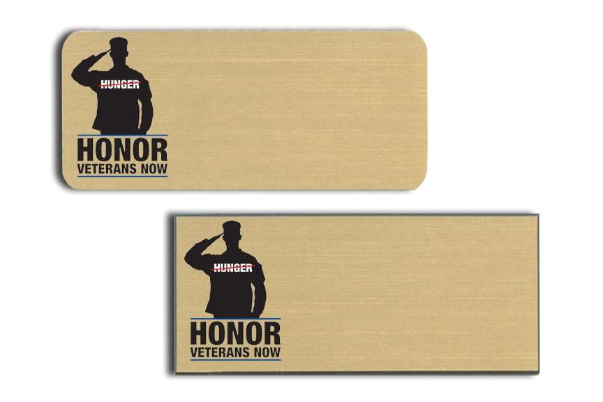 Honor Veterans Now name badges