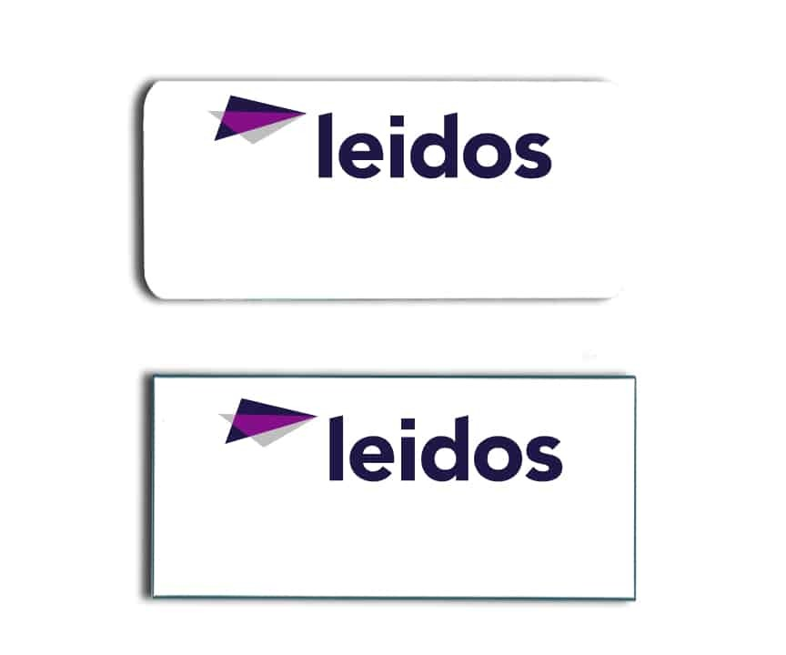 Leidos name badges