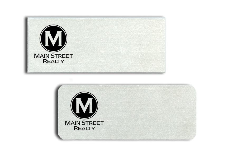 Main Street Realty name badges