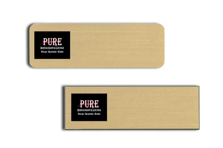 PURE Restaurant name badges