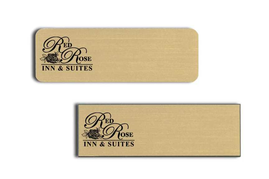 Red Rose Inn and Suites name badges