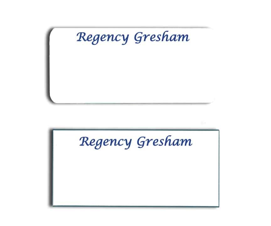 Regency Gresham name badges