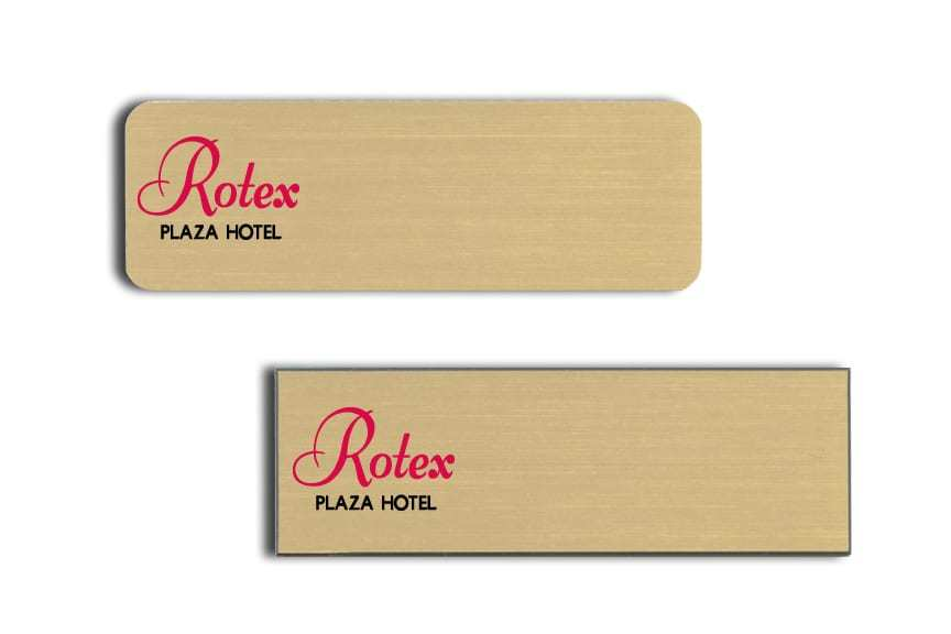 Rotex Plaza Hotel name badges