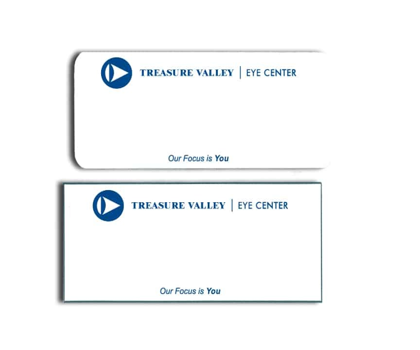 Treasure Valley Eye Center name badges