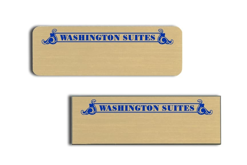 Washington Suites name badges