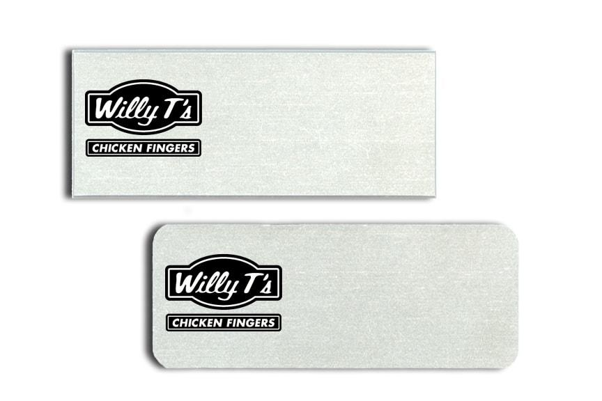 Willy T's name badges