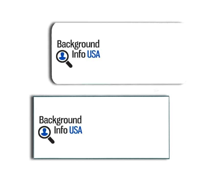 Background Info USA name badges