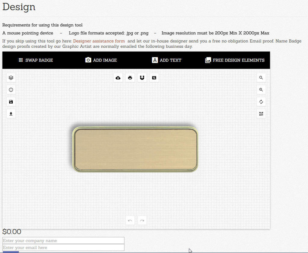 name tag design tool
