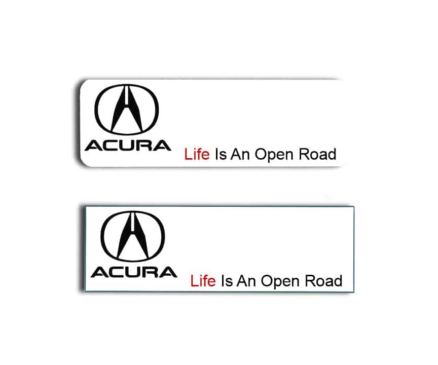 Acura Name Badges