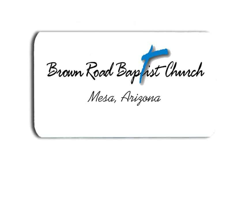 Brown Road Baptist Church Name Badges