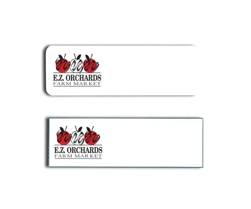 EZ Orchards Name Badges