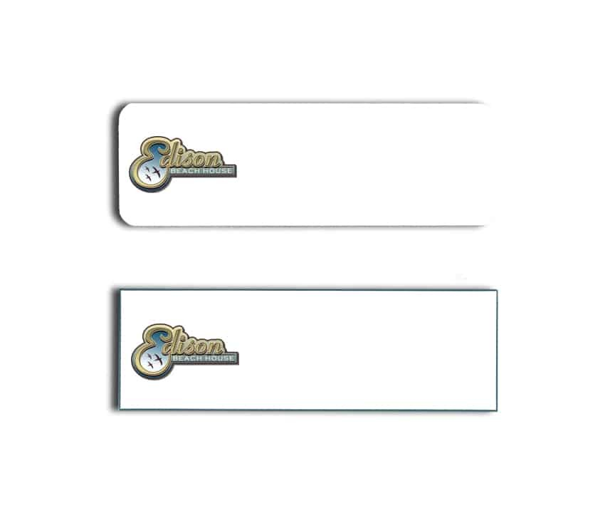 Edison Beach House Name Badges