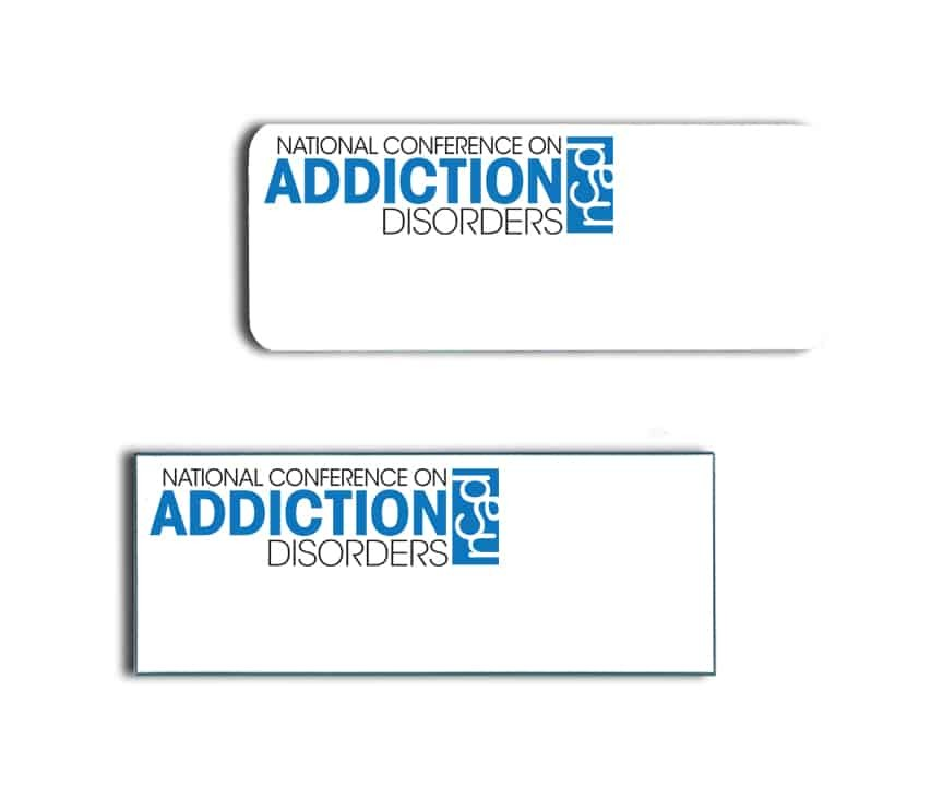 National Conference On Addiction Disorders Name Badges