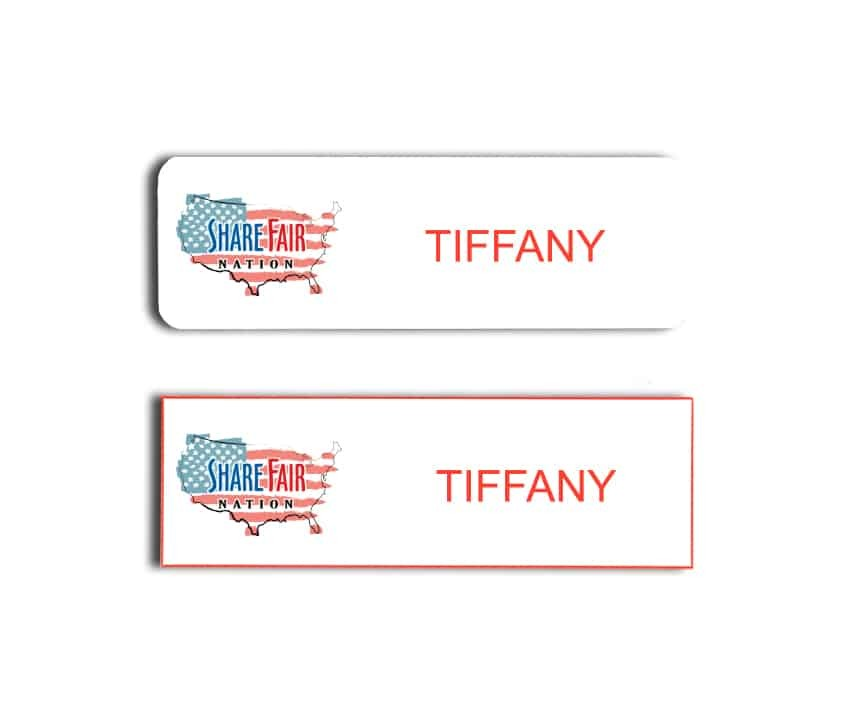 Share Fair Nation Name Badges