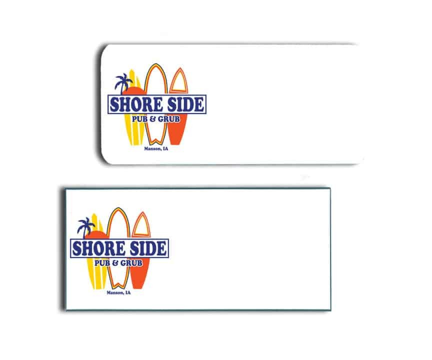 Shore Side Pub & Grill Name Badges