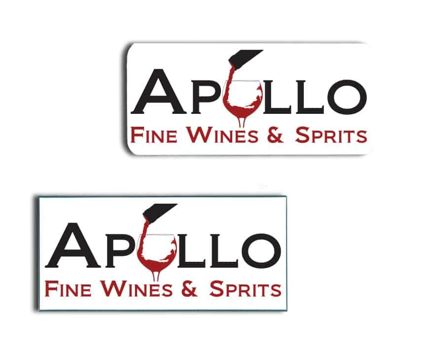 Apollo Wine Name Badges