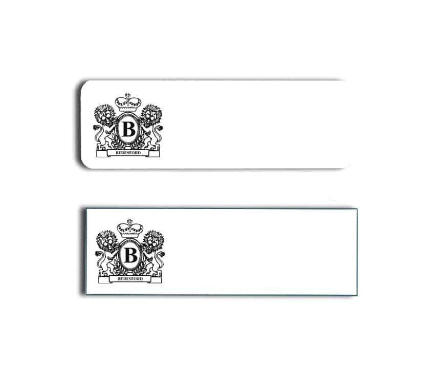 Beresford Name Badges
