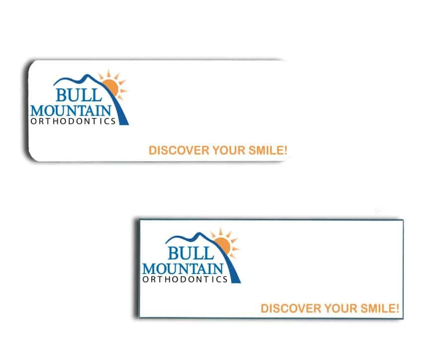 Bull Mountain name badges