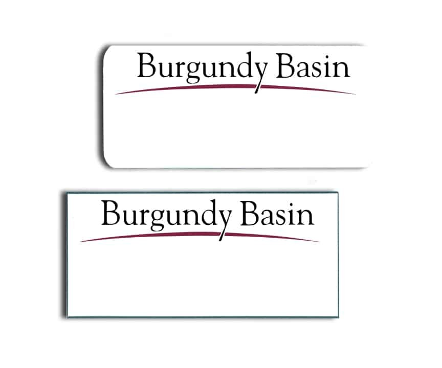 Burgundy Basin Name Badges