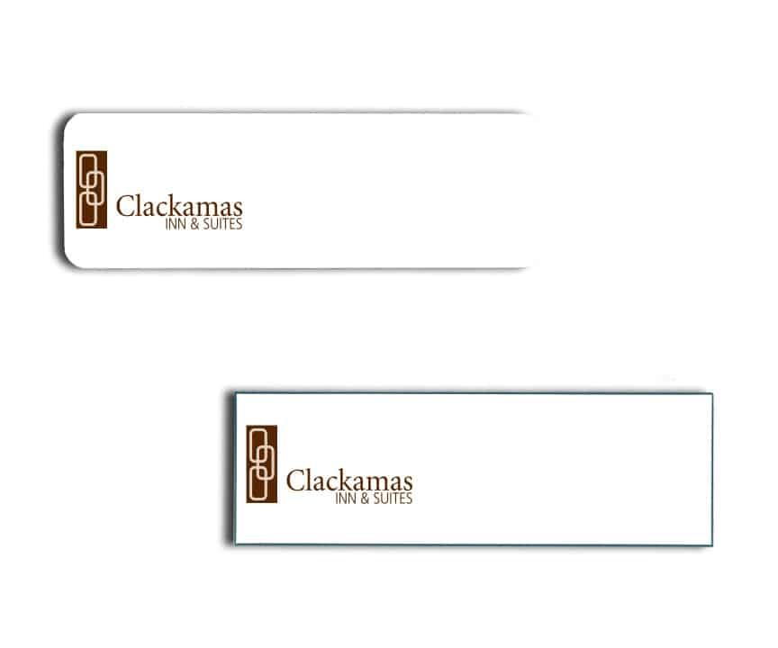 Clackamas Inn Suites name badges