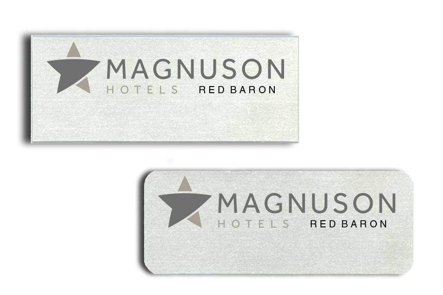 Magnuson Hotel Red Baron name badges